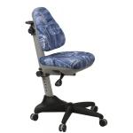 Кресло детское Бюрократ KD-2 ткань, джинса, крестовина пластик, серая