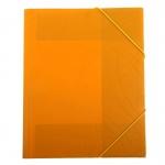 Пластиковая папка на резинке Бюрократ Galaxy оранжевая, A4, до 150 листов, GA510or/816769