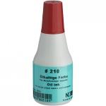 Штемпельная краска на масляной основе Noris 25 мл, красная, быстросохнущая, 210