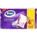 Бумажные полотенца Zewa Premium Decor белые, 2 слоя, 4 рулона