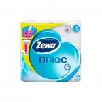 Туалетная бумага Zewa Плюс без аромата, белая, 2 слоя, 4 рулона, 184 листа, 23м