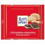 Шоколад Ritter Sport 100г с марципаном, горький