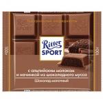 Шоколад Ritter Sport 100г с шоколадным муссом, молочный