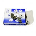 Кнопки канцелярские Велент 12мм, 100шт/уп, металлические