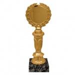 Кубок пластиковый Венец 8х6х22см, черный с золотом