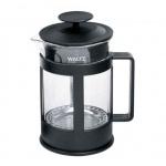 Чайник заварочный френч-пресс Waltz Утро 800мл, черный, стекло/пластик