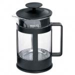 Чайник заварочный френч-пресс Waltz Утро 1л, черный, стекло/пластик