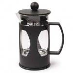 Чайник заварочный френч-пресс Waltz Мозаика черный, 600мл, стекло/пластик