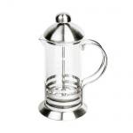 Чайник заварочный френч-пресс Waltz Элит 350мл, с пластиковой ложкой, стекло/нержавеющая сталь