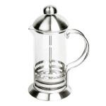 Чайник заварочный френч-пресс Waltz Элит 600мл, с пластиковой ложкой, стекло/нержавеющая сталь