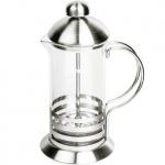 Чайник заварочный френч-пресс Waltz Элит 1л, с пластиковой ложкой, стекло/нержавеющая сталь