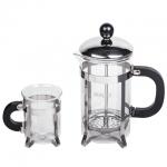 Набор для заваривания чая Waltz Классик френч-пресс (600мл)+2 стакана (по 200мл)+пластиковая ложка
