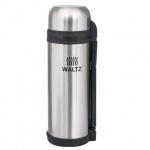 Термос с узким горлом Waltz 1.8л, нержавеющая сталь, пластиковая ручка