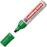 Маркер перманентный Edding 500 зеленый, 2-7мм, скошенный наконечник, универсальный, заправляемый