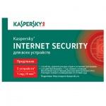 Антивирус Kaspersky Internet Security 5 ПК/1 год, продление лицензии