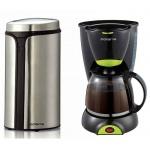 Кофеварка капельная Polaris PCM 1211 800 Вт, черная, + Кофемолка PCG 0815A
