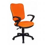 Кресло офисное Бюрократ CH-540AXSN ткань, крестовина пластик, оранжевое