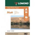 Фотобумага для струйных принтеров Lomond А4, 25 листов, 140 г/м2, матовая, 102073