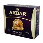 Чай Akbar, черный, 100 пакетиков, 100 Years, 100 пакетиков