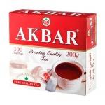 Чай Akbar, черный, 100 пакетиков, Красно-белый, 100 пакетиков