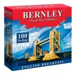 Чай Bernley English Breakfast, черный, 100 пакетиков