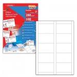 Визитные карточки Decadry Oneclick белые, 85х54мм, 280г/м2, 10л х10шт