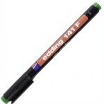 Маркер для пленок перманентный Edding 141F, 0.6мм, круглый наконечник, для деликатных гладких поверхностей, зеленый