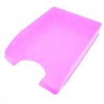 Лоток горизонтальный для бумаг Оскол-Пласт А4, розовый, 9059