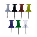 Кнопки для пробковых досок Alco цветные, 40 шт/уп, гвоздики