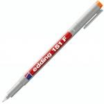 Маркер для пленок Edding 151F, 0.6мм, круглый наконечник, для деликатных гладких поверхностей, оранжевый
