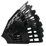 Лоток для бумаг Оскол-Пласт Веер эконом А4, 7 секций, черный