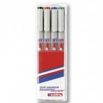 Маркер для пленок Edding 152М набор 4 цвета, 1мм, круглый наконечник, для деликатных гладких поверхн
