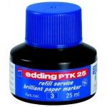 Чернила для маркеров перманентные Edding PTK25 синий, 25мл