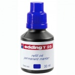 Чернила для маркеров перманентные Edding T25 синий, 30мл