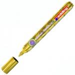 Маркер лаковый Edding 74М золотой, 1-2мм, круглый наконечник