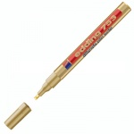 Маркер для каллиграфии Edding 753, 1.2-5мм, клиновидный наконечник, для металла и гладких поверхностей, золотой