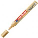 Маркер для каллиграфии Edding 755 золотой, 1-4мм, клиновидный наконечник, для металла и гладких пове