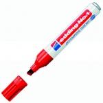Маркер перманентный Edding 1, 1-5мм, скошенный наконечник, заправляемый, красный
