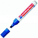Маркер перманентный Edding 1 синий, 1-5мм, скошенный наконечник, заправляемый