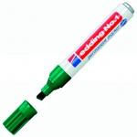 Маркер перманентный Edding 1, 1-5мм, скошенный наконечник, заправляемый, зеленый
