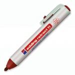 Маркер перманентный Edding 11 красный, 1.5-3мм, круглый наконечник, универсальный, заправляемый, с к