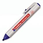 Маркер перманентный Edding 11, 1.5-3мм, круглый наконечник, универсальный, заправляемый, с кнопкой, синий