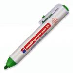 Маркер перманентный Edding 11, 1.5-3мм, круглый наконечник, универсальный, заправляемый, с кнопкой, зеленый