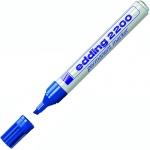 Маркер перманентный Edding 2200, 1-5мм, скошенный наконечник, универсальный, заправляемый, синий