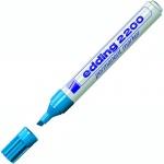 Маркер перманентный Edding 2200, 1-5мм, скошенный наконечник, универсальный, заправляемый, голубой