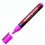 Маркер перманентный Edding 330, 1-5мм, скошенный наконечник, универсальный, заправляемый, розовый