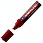 Маркер перманентный Edding 390 красный, 4-12мм, скошенный наконечник, универсальный, заправляемый