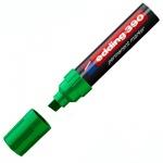 Маркер перманентный Edding 390 зеленый, 4-12мм, скошенный наконечник, универсальный, заправляемый