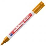 Маркер перманентный Edding 400, 1мм, круглый наконечник, универсальный, заправляемый, оранжевый