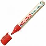 Маркер перманентный Edding ECO 21 красный, 1.5-3мм, круглый наконечник, универсальный, без запаха
